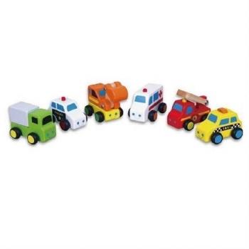 Игровой набор Viga Toys Мини-машинки, 6 шт. (59621)