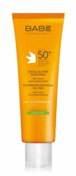 Купить Средства защиты от солнца, Солнцезащитный крем Babe Laboratorios SPF 50+, для жирной кожи лица, 50 мл