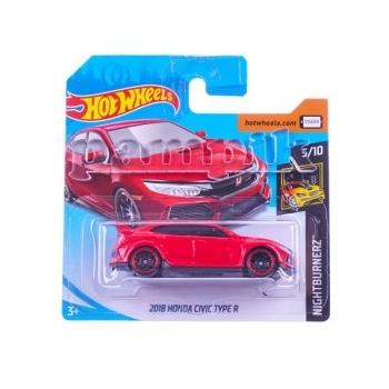 Купить Игрушечный транспорт, Базовая машинка Hot Wheels 2018 Honda Civic Type R, красный (DTV55), Малайзия, Красный