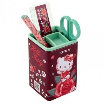 Настольный набор канцтоваров Kite Hello Kitty, квадратный (HK19-214)