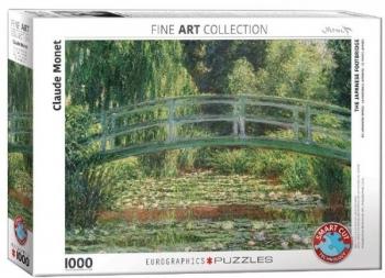 Купить Пазлы, шнуровки и головоломки, Пазл EuroGraphics Японский мостик, Клод Моне, 1000 элементов (6000-0827), США