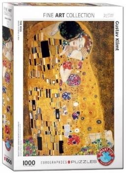 Купить Пазлы, шнуровки и головоломки, Пазл EuroGraphics Поцелуй Густав Климт, 1000 элементов (6000-4365), США
