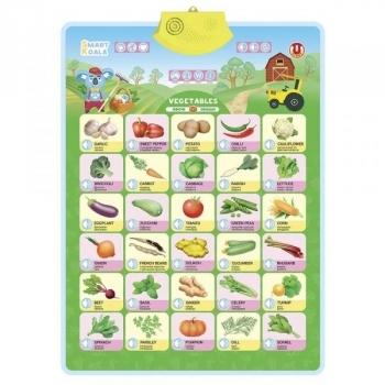 Купить Интерактивные и музыкальные игрушки, Аудиопостер интерактивный Smart Koala Овощи (SKCIV2), Украина