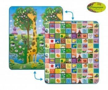Купить со скидкой Развивающий коврик Limpopo Большая жирафа и Красочная азбука, двухсторонний, 180х150 см (LP012-150)