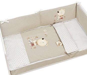 Купить Постельное белье, Комплект постельного белья Interbaby Nature Beige, хлопок, 145х115 см, бежевый, Испания, Хлопок