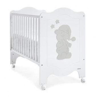 Детская кроватка Trama Sleepy Bear White/Silver, белый с серым (8312609