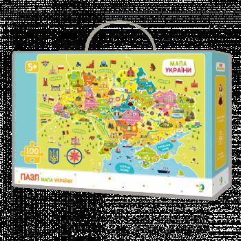 Купить Пазлы, шнуровки и головоломки, Пазл DoDo Карта Украины, 100 шт. (300109), Украина