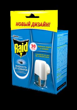 Купить Средства защиты от комаров и насекомых, Жидкость Raid для фумигаторов 30 ночей