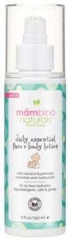 Лосьон детский Mambino Organics Для ежедневного ухода за кожей лица и тела, 150 мл