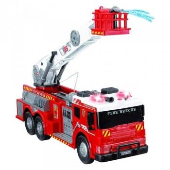 Купить Игрушечный транспорт, Функциональное авто Dickie Toys Пожарная бригада с звуковыми, световыми и водными эффектами, 62 см (3719003), Красный
