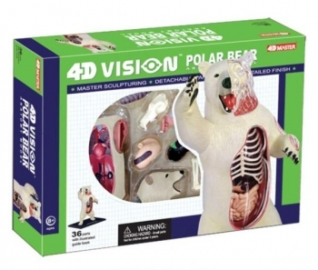 3D Пазл 4D Master Белый медведь, 36 элементов (26097)