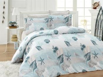 Купить Постельное белье, Комплект постельного белья LightHouse Sea Dream, бязь, 220х160 см, белый с голубым (6922_1.5LH), Турция, Белый, Бязь