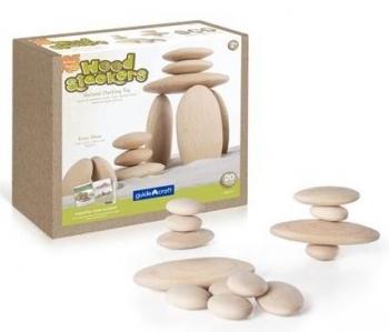 Купить Настольные игры и опыты, Набор деревянных блоков Guidecraft Natural Play Деревянный булыжник (G6771), Китай