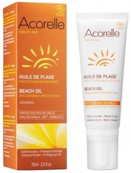 Купить Средства защиты от солнца, Масло для безопасного загара Acorelle, органическое, 75 мл, Франция
