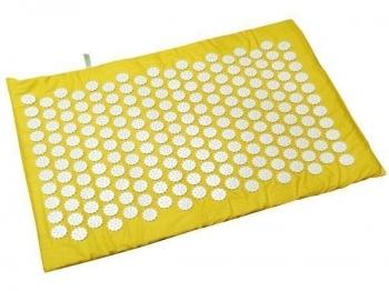 Купить Развивающие и игровые коврики, Коврик массажно-акупунктурный Onhillsport Релакс, 55х40 см, желтый (MS-1251-9), Украина, Желтый