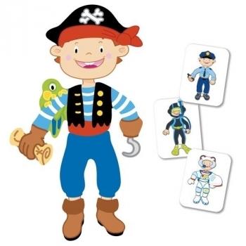 Купить Обучающие игрушки, Магнитная книга Goki Наряды для мальчика (58741G), Германия