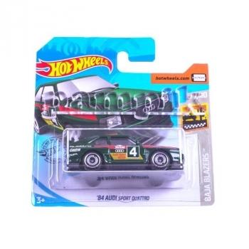 Купить Игрушечный транспорт, Базовая машинка Hot Wheels '84 Audi Sport Quattro, зеленый (5785), Китай
