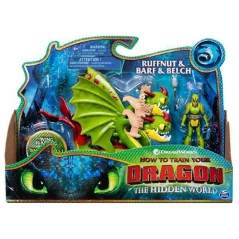 Купить Фигурки, куклы и игрушки-антистресс, Игровой набор Spin Master Как приручить дракона 3: Барс и Вепрь с всадником Задирой (SM66621/4967)