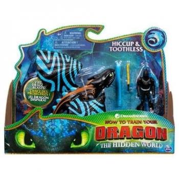 Купить Фигурки, куклы и игрушки-антистресс, Игровой набор Spin Master Как приручить дракона 3: Беззубик в боевом окрасе и Иккинг (SM66621/7397)