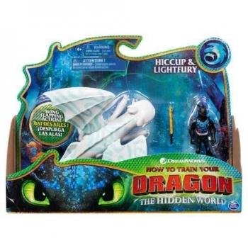 Купить Фигурки, куклы и игрушки-антистресс, Игровой набор Spin Master Как приручить дракона 3: Дракон Дневная Фурия в боевом окрасе и викинг Иккинг (SM66621/9351)