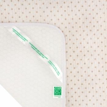 Купить со скидкой Многоразовая непромокаемая пеленка ЭКО ПУПС Soft Touch Premium Звездочки, 90х65 см, бежевый (EPG07W-