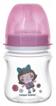 Бутылочки и соски, Антиколиковая бутылочка для кормления Canpol babies Easystart Toys, 120 мл, розовый (35/220_pin), Польша, Розовый  - купить со скидкой