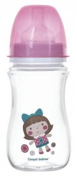 Купить Бутылочки и соски, Антиколиковая бутылочка для кормления Canpol babies Easystart Toys, 240 мл, розовый (35/221_pin), Польша, Розовый