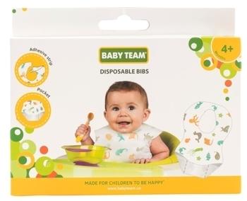 Купить Слюнявчики и нагрудники, Слюнявчик Baby Team одноразовый, 10 шт. (6510)