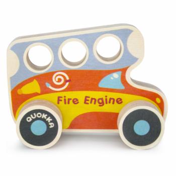 Машинка деревянная Quokka Пожарная машина (QUOKA92PTF)