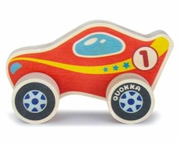 Машинка деревянная Quokka Спорткар, красный (QUOKA94SCR)
