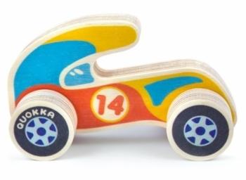 Машинка деревянная Quokka Спорткар, оранжевый (QUOKA97SCO)