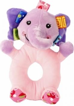 Купить Погремушки и прорезыватели, Мягкая игрушка-погремушка Lindo Слон (F 1002 слон), Китай