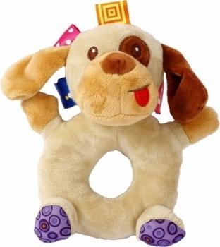 Купить Погремушки и прорезыватели, Мягкая игрушка-погремушка Lindo Собака (F 1002 собака), Китай