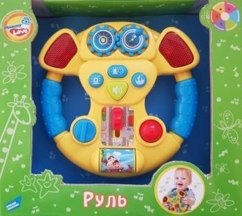 Интерактивные и музыкальные игрушки, Музыкальная игрушка Mommy Love Руль, желтый (60095-2), Китай  - купить со скидкой