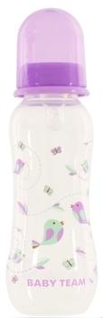 Купить Бутылочки и соски, Бутылочка с талией и силиконовой соской Baby Team, 250 мл, фиолетовый (1121), Фиолетовый