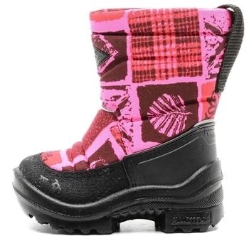 Купить Детская обувь, Зимние сапоги на шерстяной подкладке Kuoma Путкиварси Сердце, р. 26, розовый (130366-6674-26), Финляндия, Розовый