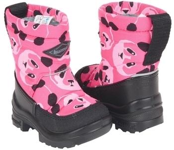 Купить Детская обувь, Зимние сапоги Kuoma Путкиварси Панда, на шерстяной подкладке р.26, розовый (130337-3701-26), Финляндия, Розовый