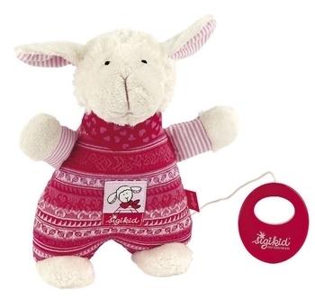Купить Мягкие игрушки, Мягкая музыкальная игрушка Sigikid Овечка, 23 см (41468SK), Германия