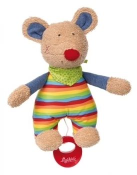 Купить Мягкие игрушки, Мягкая музыкальная игрушка Sigikid Мышка, 23 см (41535SK), Германия