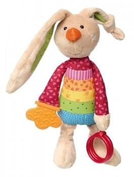 Купить Мягкие игрушки, Мягкая игрушка Sigikid Кролик с погремушкой, 26 см (41419SK), Германия