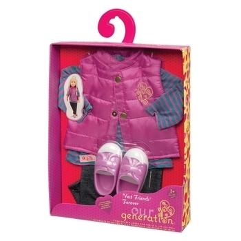 Купить Фигурки, куклы и игрушки-антистресс, Набор одежды для кукол Our Generation Пушистый жилет (BD30018Z)