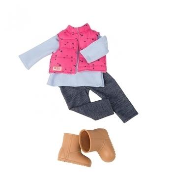 Купить Фигурки, куклы и игрушки-антистресс, Набор одежды для кукол Our Generation Жилет с брюками (BD30209Z)
