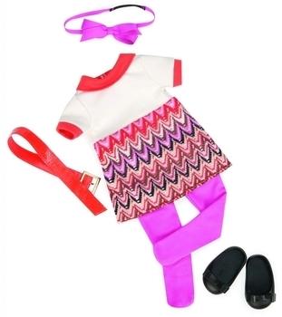 Купить Фигурки, куклы и игрушки-антистресс, Набор одежды для кукол Our Generation Платье с принтом (BD60014Z)