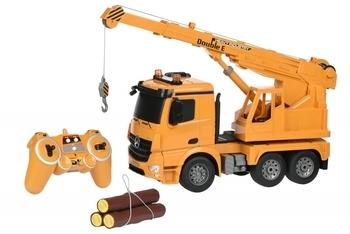 Купить Игрушечный транспорт, Машинка на радио управлении Same Toy Подъемный кран Mercedes-Benz 1:20 (E526-003), Желтый
