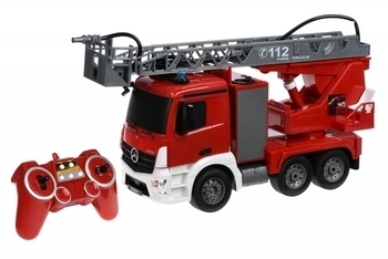 Купить Игрушечный транспорт, Машинка на ручном управлении Same Toy Пожарная машина Mercedes-Benz с лесницей 1:20 (E527-003), Красный