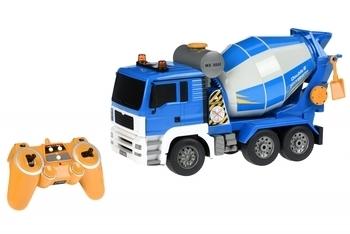 Купить Игрушечный транспорт, Машинка на радио управлении Same Toy Бетономешалка, синий (E518-003), Синий