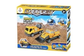 Купить Игрушечный транспорт, Магнитный конструктор Same Toy Машина (8806_Ut), Китай, Желтый