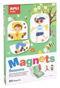 Комплект магнитов Apli Kids Времена года (17160)