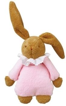 Купить Мягкие игрушки, Мягкая музыкальная игрушка Trousselier Пушистый кролик, 25 см, розовый, Франция