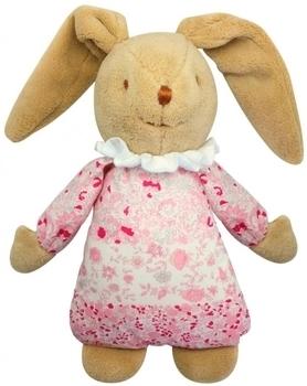 Купить Мягкие игрушки, Мягкая музыкальная игрушка Trousselier Пушистый кролик, 25 см, светло-розовый, Франция